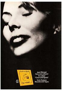 details about joni mitchell poster court and spark album promo rare image