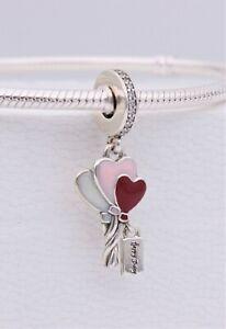 New Authentic Pandora Happy Birthday Heart Balloons Dangle Charm 798076cz Pouch Ebay