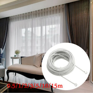 Image Is Loading 0 5m 15m Net Curtain Wire White Window