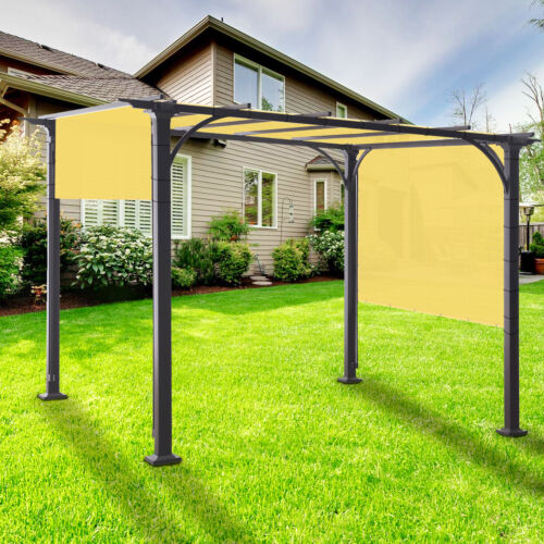 yard garden outdoor living items 7 ft waterproof straight side hemmed sun shade sail canopy awning patio cover garden structures shade equipment