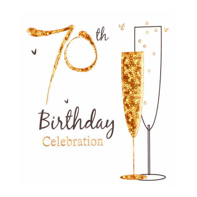 70th Birthday Party Invitation Cards Inc Envelopes 6 Pack Simon Elvin Qlty