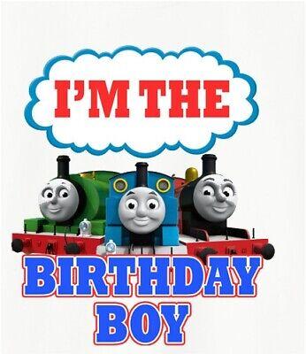 Thomas The Train I M The Birthday Boy T Shirt Iron On Transfer Ebay