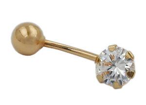 585 ECHT GOLD *** Zirkonia Piercing Bauchnabelpier