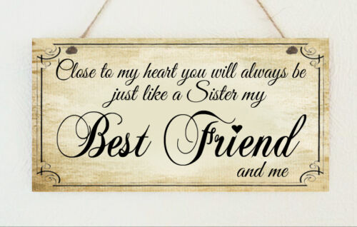 Beautiful-Hand-Made-Plaque-Best-Friend-Like-a-Sister-Birthday-Sign-Present-Gift