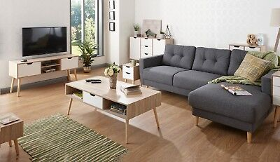 designer scandinavian style living room furniture oak white solid wood legs ebay
