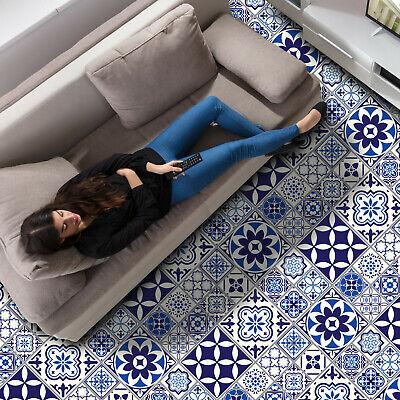 spanish and moroccan blue tiles self adhesive kitchen bathroom floor stickers ebay