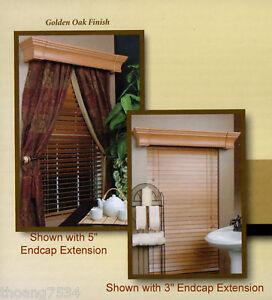 details about chamberlain 42 board for cornice box drape drapery window treatment golden oak