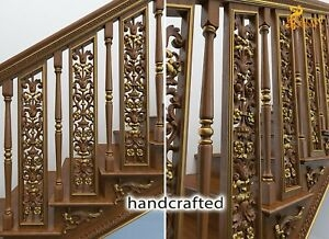 Carved Oak Stair Spindles For Sale Stair Parts 10 Pc Ebay | Iron Spindles For Sale | Contemporary | Stair | Balcony | Iron Rod | Wrought Iron
