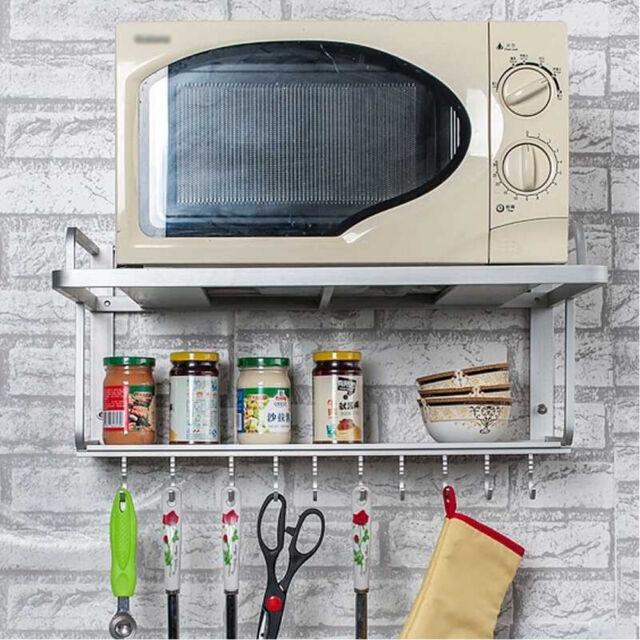 desk rack kitchen microwave oven shelf cabinet stand storage organizer black uk