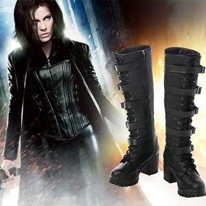 Inframundo: sangre guerras Vampiro Guerrero Selene Cosplay Zapatos Botas Accesorios