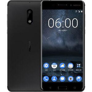Brand New Nokia 6 64GB/4GB Black Dual SIM 5.5'' Android 7.0 16MP 4G LTE Phone US