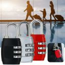 3 Digit Combination Padlock Black Number Luggage Travel  Accessories Code Lock W