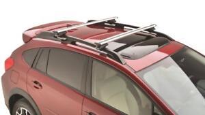 details about 2017 2020 subaru extended cross bar roof racks crosstrek impreza forester ascent
