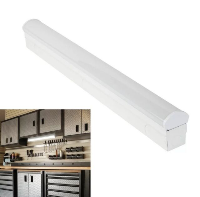 commercial electric 54260141 direct wire power 2 led white strip light fixture