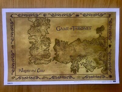 game of thrones map of westeros poster