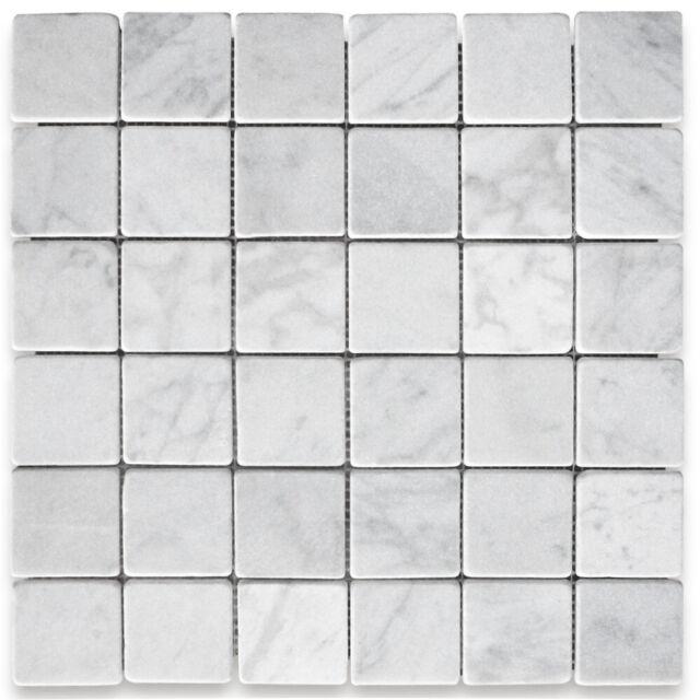 c25xt carrara white marble 2 x2 square mosaic tile tumbled nonslip shower floor
