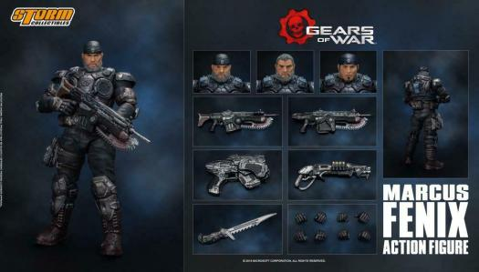 Storm Collectibles Marcus Fenix Gears Of War 1 12 Action