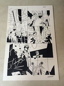 DOCTOR WHO #8 original comic art, TENNANT, 2009, BRITISH TIME LORD, TARDIS