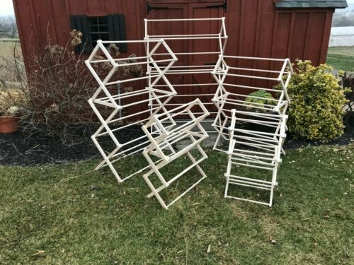 home garden folding laundry clothes drying rack portable heavy duty wooden amish made usa laundry supplies