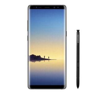New Samsung Galaxy Note 8 Midnight Black SM-N950F LTE 64GB 4G Factory Unlocked U