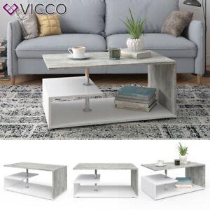 details sur vicco table basse guillermo table de salon blanc beton table de canape