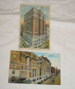 LOT 2 Vintage Postcards New York City Roxy Theater Hotel ...