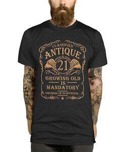21st Birthday T Shirt Gift Idea For Men Funny Present Vintage Shirt Tee Boy L397 Ebay
