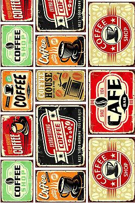 coureur tapis meubles cuisine impression numerique signe vintage cafe plaque old ebay