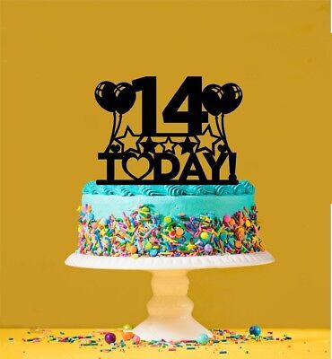 14th Birthday Acrylic Cake Topper 14 Years Old Fourteenth Ebay