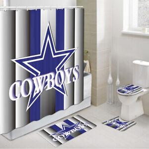 detalles acerca de conjunto de ducha cortinas con alfombra vaqueros dallas cowboys alfombra de bano inodoro mat 4pcs mostrar titulo original