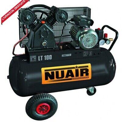 Compresseur D Air A Piston 150 Litres Moteur 3 Cv Tete Bi Cylindre Nuair Ebay