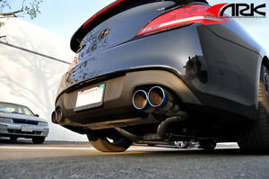 details about 10 on ark performance dt s exhaust for hyundai genesis coupe 3 8l w burnt tips