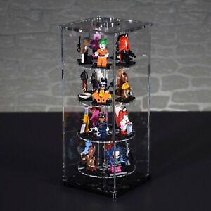 details sur single tower vitrine pour 20 vos lego personnages sammelserien serie afficher le titre d origine