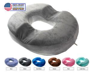 details about orthopedic donut seat cushion memory foam cushion tailbone coccyx memory foam