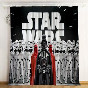 details sur star wars darth vader epaissir blackout rideau thermique fenetre rideaux panneaux 2pcs afficher le titre d origine