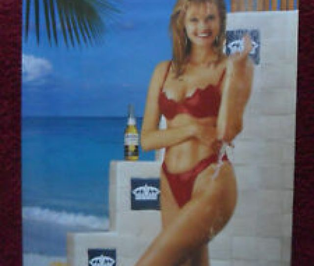 Image Is Loading Sexy Girl Beer Poster Corona Beach Shower Blonde