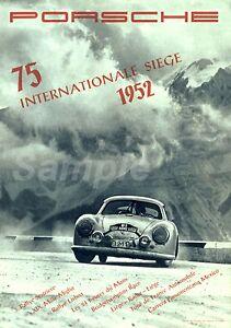 details zu vintage porsche 75 international siege motor racing a3 poster print