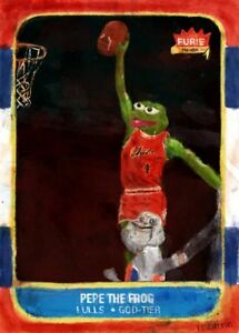 Rare Pepe Rookie Card Giclee Print By Rezatron Xx 25 Meme Ebay