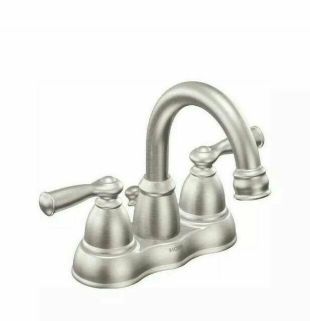 moen ws84913srn two handle high arc brushed nickel bathroom faucet