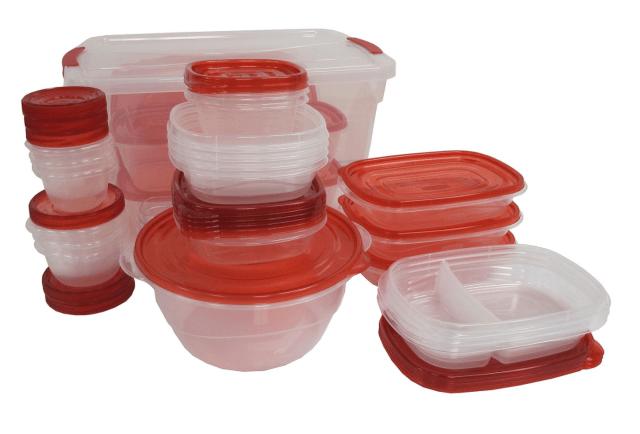 Rubbermaid 62-Piece Easy Find Lids Food Storage Set Microwave Freezer Top Shelf 2