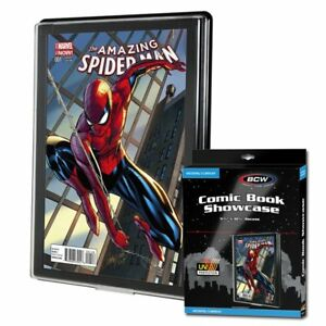 2 BCW UV Current/Modern Comic Book Showcases Wall Mountable Display Frame