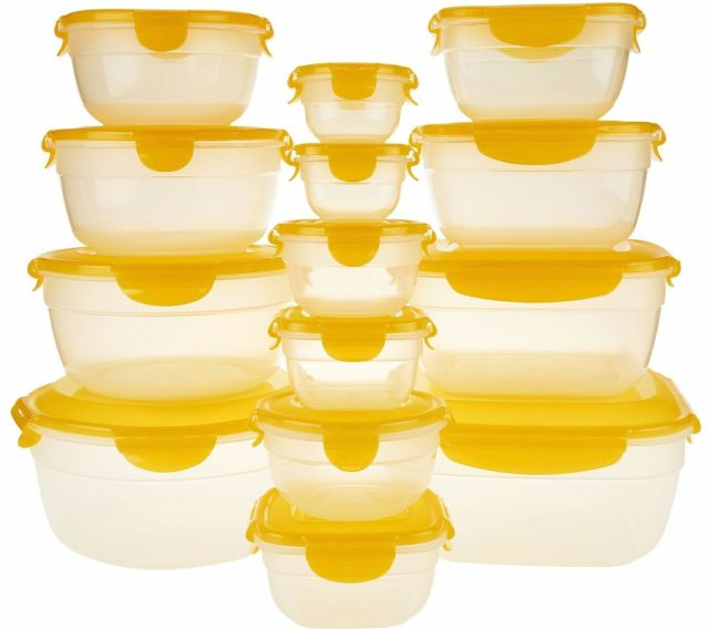 Lock & N Lock Food Storage Containers 14 pc w/ lids 2 w Handles Food Safe K44450 2