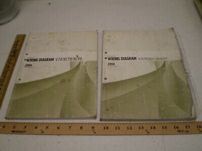 2004 volvo wiring diagram v70 xc70 v70r xc90 service manual book repair set   ebay