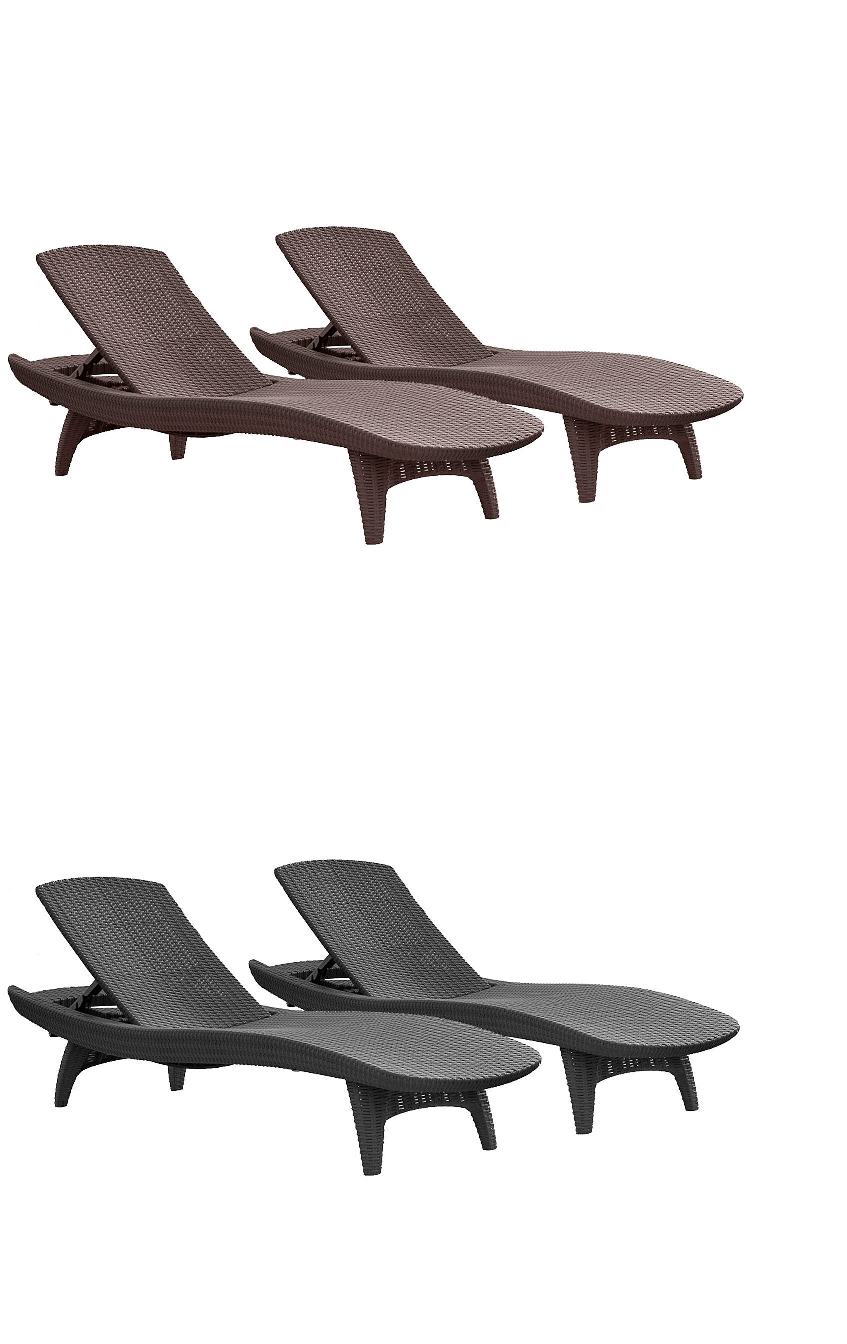keter patio chaise lounge 2 pack uv protected weave resin chair furniture