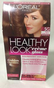 l oreal healthy look gloss hair color medium golden brown golden truffle 5g ebay