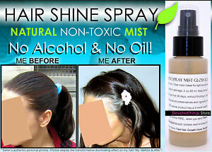 best hair shine spray mist gloss clear no oil no alcohol natural non toxic ebay