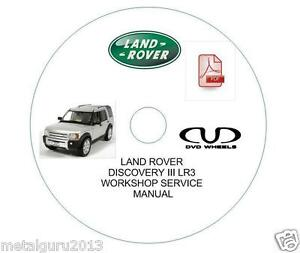 LAND ROVER DISCOVERY 3 III LR3 WORKSHOP SERVICE REPAIR MANUAL & Wiring Diagram | eBay