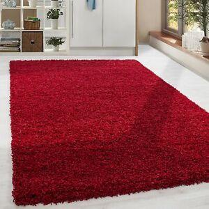 details sur shaggy poils longs poil long tapis doux tapis salon couleur rouge couleur unie