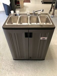 details about portable sinks by pratts direct sink 4 four compartment hot water hand wash sink