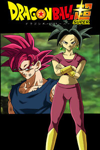 details zu dragon ball super poster kefla and goku 12in x 18in free and fast shipping